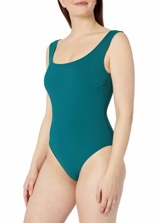 Gottex Women's Off The Shoulder One Piece Swimsuit ELLE Forest Green