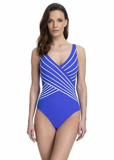 Gottex Women's Piped Surplice One Piece Swimsuit