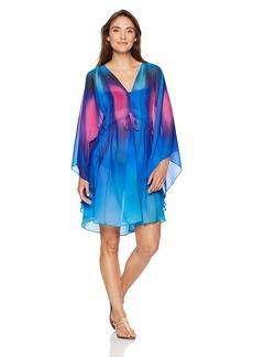 Gottex Women's Printed Flutter Sleeve V-Neck Tunic Swimsuit Cover Up