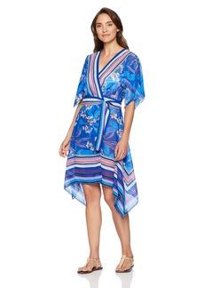 Gottex Women's Printed Hankerchief Wrap Beach Dress Swimsuit Cover up