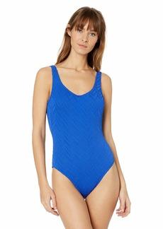 Gottex Women's Scoop Neck High Leg One Piece Swimsuit