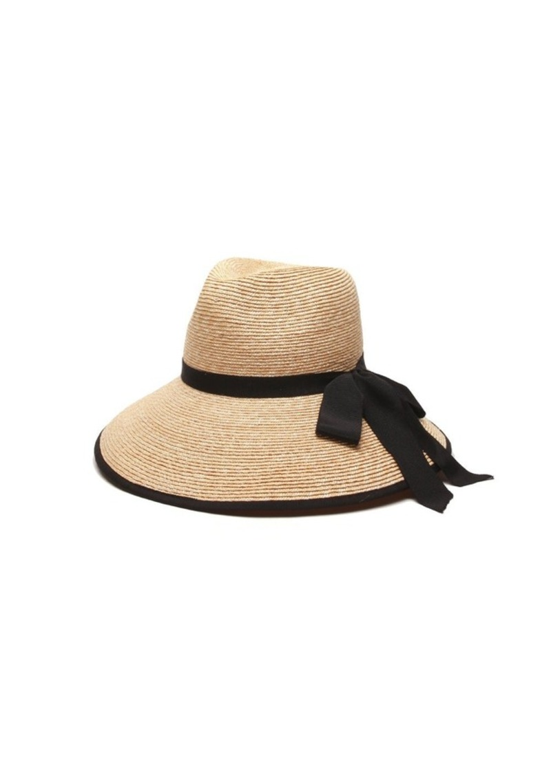Gottex Women s Silene Packable Fine Milan Straw Sun Hat Rated UPF 50+ for  Max Sun 03ff2a7d71a6