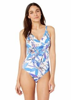 Gottex Women's Surplice D-Cup One Piece Swimsuit