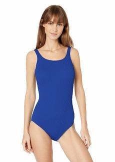 Gottex Women's Textured Mastectomy High Neck One Piece Swimsuit