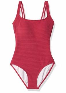 Gottex Women's Standard Textured Square Neck One Piece Swimsuit