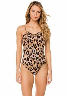 Gottex Women's Thin Strap Scoop Neck One Piece Swimsuit