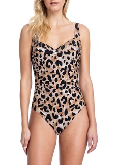 Gottex Kenya Sweetheart Printed One-Piece Swimsuit - Extra Coverage