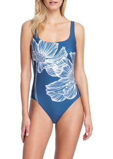 Gottex Lily Floral Square-Neck One-Piece Swimsuit