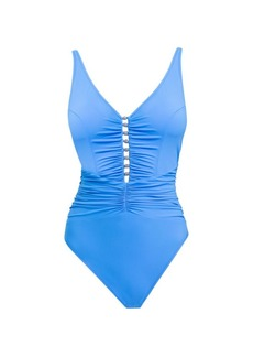 Gottex Maharani Ruched One-Piece Swimsuit