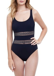 Gottex Mesh One-Piece Swimsuit