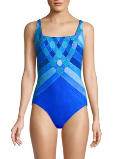 Gottex Mystic Gem Squareneck One-Piece Swimsuit
