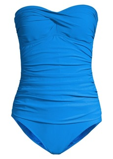 Gottex One-Piece Ruched Bandeau Swimsuit