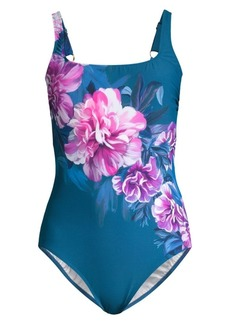 Gottex One-Piece Square-Neck Floral Swimsuit