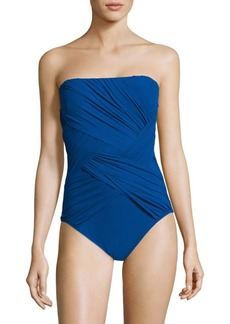 Gottex One-Piece Wrapped Bandeau Swimsuit