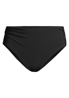 Gottex Ruched High-Waist Bikini Bottom