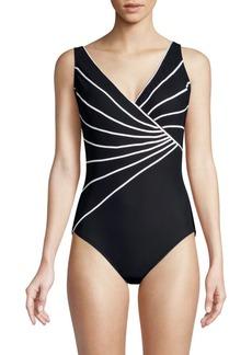 Gottex Sinatra Striped One-Piece Swimsuit