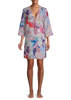 Gottex Watercolor Paisley Tunic