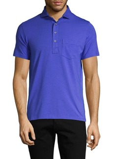 Greyson Button-Front Short-Sleeve Polo