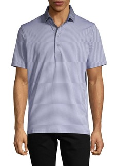 Greyson Contrasting Collar Striped Polo