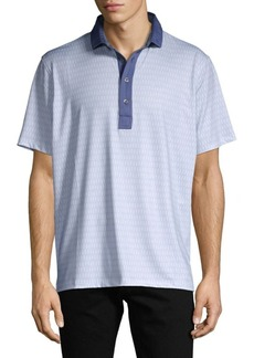 Greyson Short-Sleeve Contrast Polo