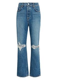 GRLFRND Amanda Distressed Straight-Leg Jeans