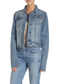 GRLFRND Bianca Stripe Cuff Denim Jacket