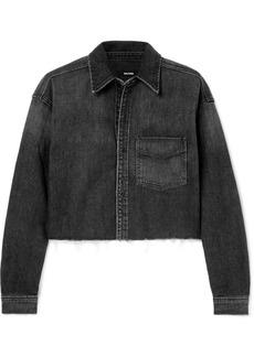 GRLFRND Christy Cropped Denim Shirt
