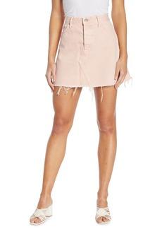 GRLFRND Eva Fray Hem Denim Mini Skirt
