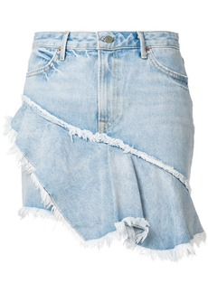 GRLFRND frayed hem denim skirt