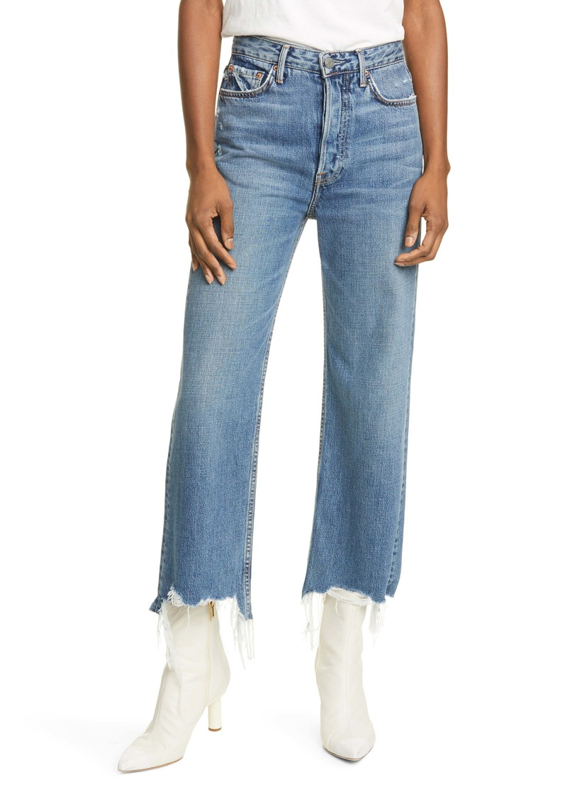 GRLFRND Bobbi High Waist Crop Straight Leg Jeans (What You Like)