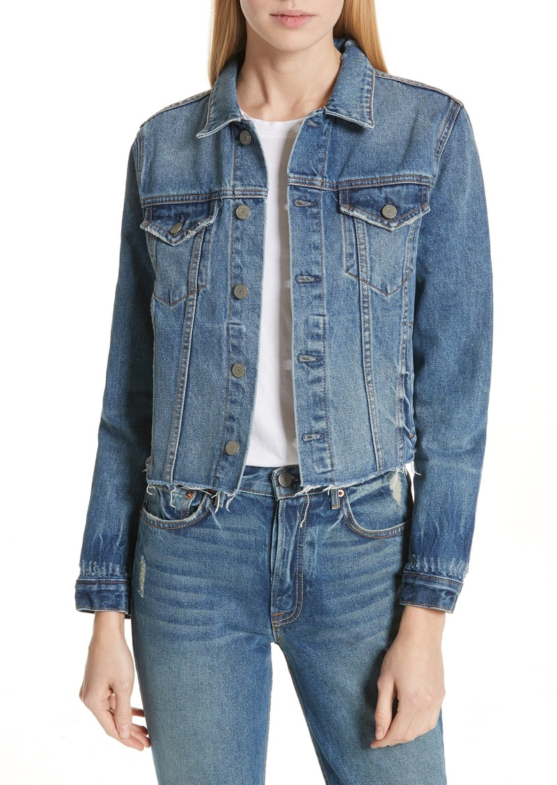 GRLFRND Cara Crop Denim Jacket