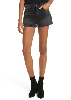 GRLFRND Cindy Rigid High Waist Denim Shorts (High Tide)