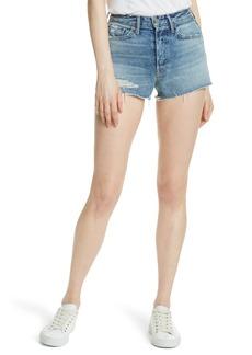 GRLFRND Cindy Rigid High Waist Denim Shorts (Stoned)