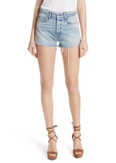 GRLFRND Cindy Side Stripe Denim Shorts (Salerno)