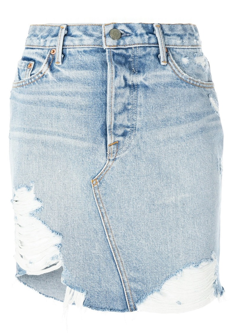 Grlfrnd distressed denim skirt - Blue