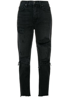 GRLFRND distressed high-rise jeans