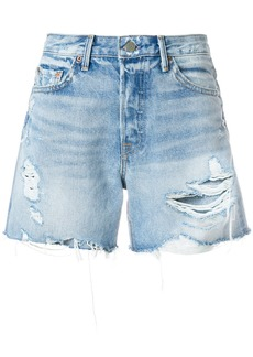 Grlfrnd distressed Wasteland shorts - Blue