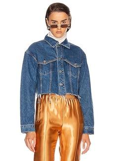 GRLFRND Faye Western Yoke Crop Jacket