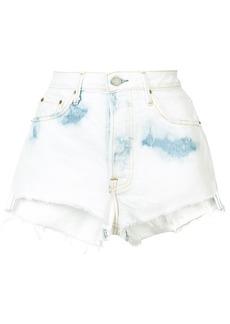 Grlfrnd fitted denim shorts - Blue