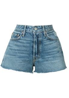Grlfrnd frayed mini denim shorts - Blue