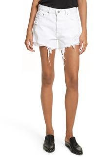 GRLFRND Helena High Waist Denim Shorts (Pierre)