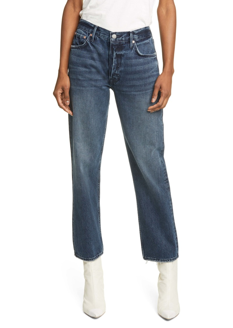 GRLFRND Helena High Waist Straight Leg Jeans (Evening Star)
