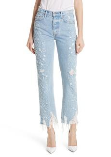 GRLFRND Helena Rigid High Waist Straight Jeans (Burn Out)