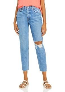 GRLFRND Karolina Distressed Skinny Jeans in Kiss And Tell