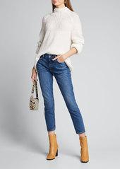 GRLFRND Karolina High-Rise Cropped Skinny Jeans