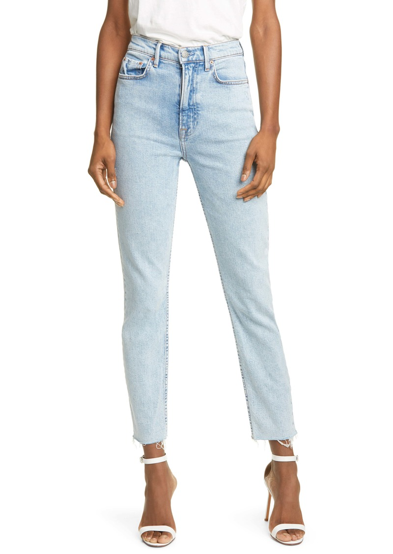 GRLFRND Karolina High Waist Ankle Skinny Jeans (In the Sky)