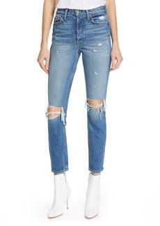 GRLFRND Karolina Ripped High Waist Skinny Jeans (I Put a Spell On You)