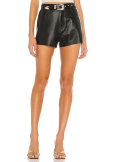 GRLFRND Westley Leather Shorts