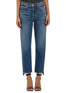 GRLFRND Women's Helena Straight Crop Jeans