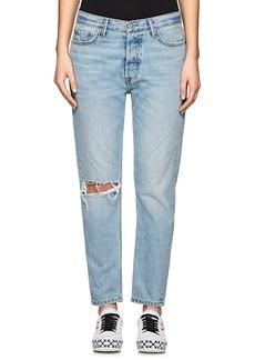 GRLFRND Women's Kiara Tomboy Distressed Boyfriend Jeans